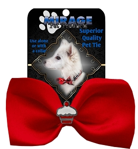 Cupcake Widget Pet Bowtie Red